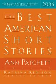 Cover art for THE BEST AMERICAN SHORT STORIES 2006