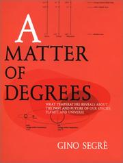 Book Cover for A MATTER OF DEGREES