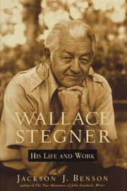 Cover art for WALLACE STEGNER