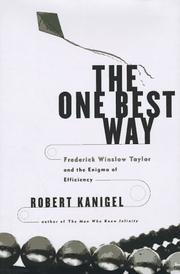 THE ONE BEST WAY by Robert Kanigel