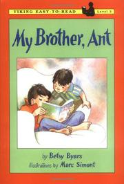 MY BROTHER, ANT by Betsy Byars