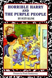 Cover art for HORRIBLE HARRY AND THE PURPLE PEOPLE