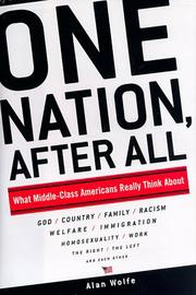 Cover art for ONE NATION, AFTER ALL
