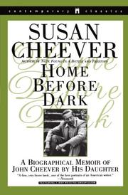 HOME BEFORE DARK by Susan Cheever