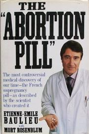 "Book Cover for THE ""ABORTION PILL"""