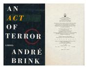 AN ACT OF TERROR by André Brink