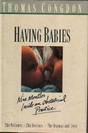 HAVING BABIES by Thomas Congdon