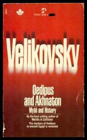 OEDIPUS AND AKHNATON by Immanuel  Velikovsky