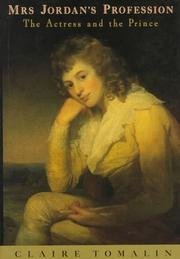 MRS. JORDAN'S PROFESSION by Claire Tomalin