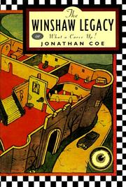 THE WINSHAW LEGACY by Jonathan Coe