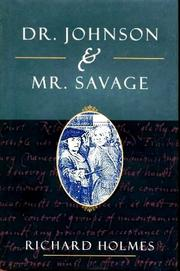 Cover art for DR. JOHNSON AND MR. SAVAGE