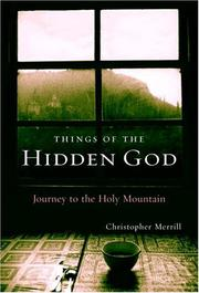 THINGS OF THE HIDDEN GOD by Christopher Merrill