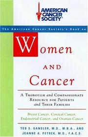 WOMEN AND CANCER by M.D. Runowicz