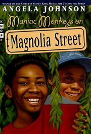 Book Cover for MANIAC MONKEYS ON MAGNOLIA STREET