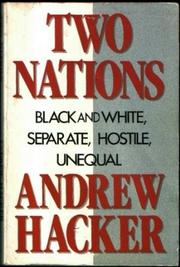 Book Cover for TWO NATIONS