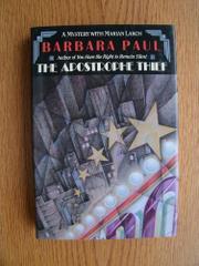 THE APOSTROPHE THIEF by Barbara Paul