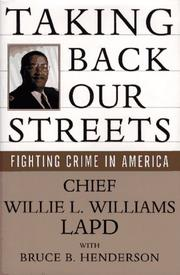 TAKING BACK OUR STREETS by Willie L. Williams