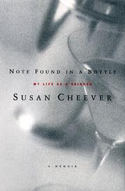 NOTE FOUND IN A BOTTLE by Susan Cheever