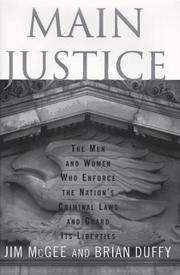 MAIN JUSTICE by Jim McGee