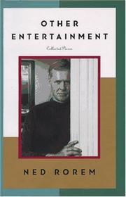 OTHER ENTERTAINMENT by Ned Rorem