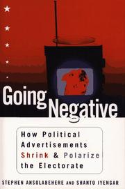 GOING NEGATIVE by Stephen Ansolabehere