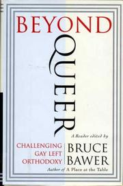 BEYOND QUEER by Bruce Bawer
