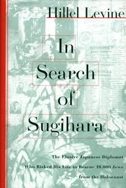IN SEARCH OF SUGIHARA by Hillel Levine