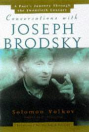 CONVERSATIONS WITH JOSEPH BRODSKY by Solomon Volkov