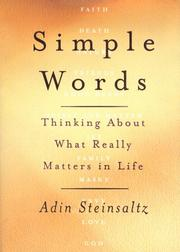 SIMPLE WORDS by Adin Steinsaltz