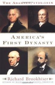 Cover art for AMERICA'S FIRST DYNASTY