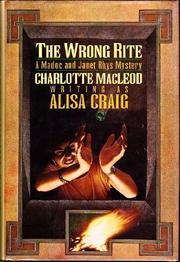 THE WRONG RITE by Alisa Craig