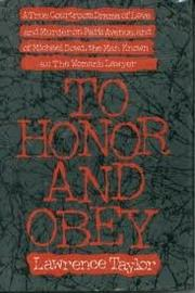 TO HONOR AND OBEY by Lawrence Taylor