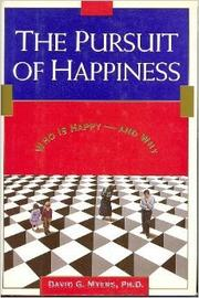 THE PURSUIT OF HAPPINESS by David G. Myers