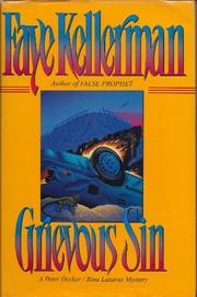GRIEVOUS SIN by Faye Kellerman