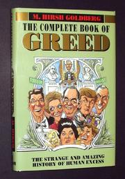 THE COMPLETE BOOK OF GREED by M. Hirsh Goldberg
