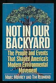 NOT IN OUR BACKYARD by Tim Redmond