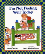 Cover art for I'M NOT FEELING WELL TODAY