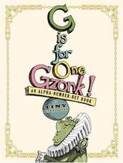 Book Cover for G IS FOR ONE GZONK!