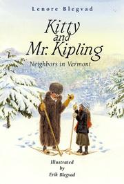 KITTY AND MR. KIPLING by Lenore Blegvad