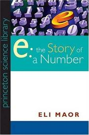 e: THE STORY OF A NUMBER by Eli Maor
