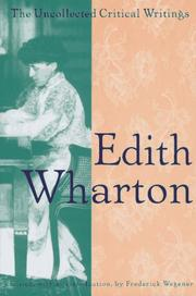 THE UNCOLLECTED CRITICAL WRITINGS by Edith Wharton