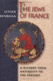 THE JEWS OF FRANCE by Esther Benbassa
