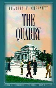 THE QUARRY by Charles W. Chesnutt