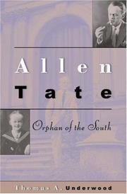 ALLEN TATE by Thomas A. Underwood