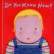 DO YOU KNOW NEW? by Jean Marzollo