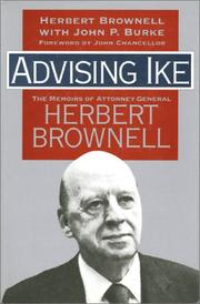 ADVISING IKE by Herbert Brownell