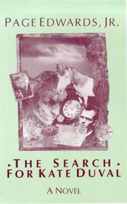 THE SEARCH FOR KATE DUVAL by Jr. Edwards