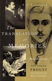 THE TRANSLATION OF MEMORIES by P. F. Prestwich