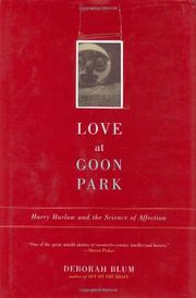 LOVE AT GOON PARK by Deborah Blum