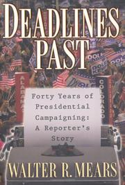 DEADLINES PAST by Walter Mears